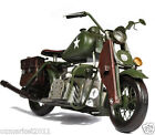 * * 1:18 Army Green Motorcycle Model Decoration/Gift/Collection /Bar Props