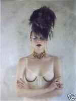 Topshop Nude Vtg Floral Lace Stud Bralet Crop Corset Bra Bustier Top 8 10 34B S