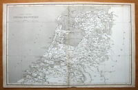NETHERLANDS, HOLLAND, BELGIUM original antique map 1807