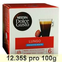 Nescafé Dolce Gusto Caffè Lungo Decaffeinato, Pack of 6, 6 x 16 Capsules