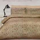 Safari Quilt Doona Duvet Cover Set 300TC Luxury Leopard Print Bedding Jacquard