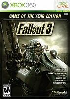 Fallout 3 (Game of the Year Edition) - Xbox 360 (XB360) Brand New