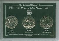 Queen Elizabeth II The Royal Jubilee Years (Silver Golden Diamond) Coin Gift Set