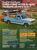 1980 ad for 1981 Ford Ranger Farm Pickup Truck Print Ad