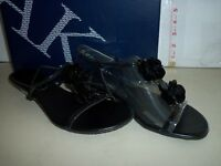 Anne Klein New Womens Ziti Black Wedge Sandals 8.5 M Shoes