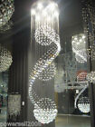 Modern Simple 7 Lights D 60*H 180 CM Villa Staircase Living Room Crystal Light