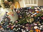 Rural Style Home Decoration Flowers Cotton Table Cloth / Cover 140cm X 180cm