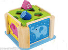 Changeable Multicolor Safety Size 18*18*11.5 CM Wooden Animal Educational Toy