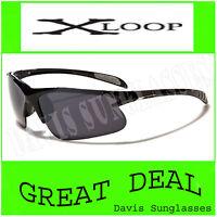 X Loop Sunglasses XL46101 UV400 Davis D4 cycling running shades black
