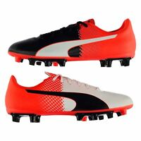 Puma evoSpeed 5 FG Firm Ground Football Boots Mens Black/Red Soccer Cleats Shoes