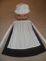 GIRLS VICTORIAN EDWARDIAN COSTUME OUTFIT FANCY DRESS MOP CAP APRON  AGE 3 - 5 YR