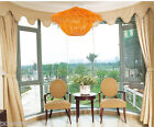 European Rural Style Rattan 1 Light Bedroom Study Orange Chandelier