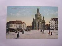 alte AK Dresden Straßenbahn Pferdekutsche (04625)