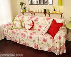 Pastoral Style Flowers Cotton Sofa Cloth 280CM Sofa Cover Cloth