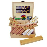 SMOKERS ROLLING BOX WOODEN STASH STORAGE PAPERS FILTER TIPS GRINDER SMOKE PIPE