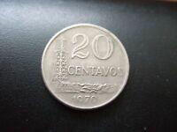 BRAZIL 20 CENTAVOS COIN 1970 COPPER-NICKEL.