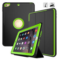 Defender Rugged Hybrid Crashproof Heavy Rubber Case Cover For Apple iPad