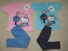 Neuf Avec Étiquette Hello Kitty Sous Licence T-shirt & legging ENSEMBLE 2 3 4