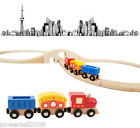 Multicolor Safety Environmental Protection Wooden Train Track Social Toys