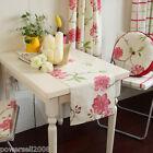 Rural Style Home Decoration Grid/Flowers Cotton Table Cloth / Cover 30cm X 120cm