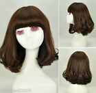 CW-013 Specialized Wig Material Dark Brown Long Fluffy Curly Wave Women Wig