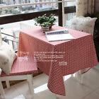 American Rural Cotton Lattice Table Cloth / Cover 130cm X 130cm