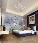 Murals Modern Simple Warm Bedroom TV background Wallpaper Custom Size(2 Flowers)