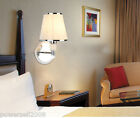 European Modern Minimalist Cloth+Iron 1 Light Bedroom Hallway Wall Lamp