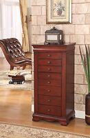 8 Drawer Jewelry Armoire with Locking mechanism