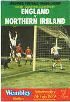 England v Northern Ireland - European Championship 7/2/1979 - Football Programme