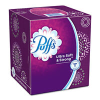 Puffs Ultra Soft and Strong Facial Tissue Two-Ply White 56 Sheets/Box 35038BX