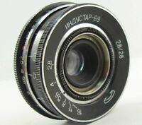 ⭐SERVICED⭐ INDUSTAR-69 28mm f/2.8 USSR Wide Angle Pancake Lens M39 MMZ-LOMO #12
