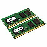 Crucial 16GB 8GBx2 DDR3-1600 PC3-12800 SODIMM Apple MAC Memory CT2K8G3S160BM