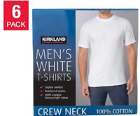 6 PACK Kirkland Signature Men's Crew Neck T-shirts 100% Combed Cotton VARIETY!