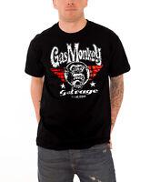 Gas Monkey Garage T Shirt Flying High Kustom Builds Logo Official Mens New Black