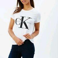 NEW! Calvin Klein Women Logo Origins Crew Neck T-Shirt Short Sleeve Graphic Tee