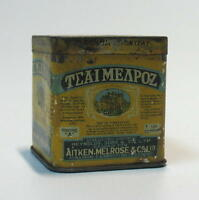 VINTAGE ENGLAND MELROSE TEA TIN BOX CONTAINER