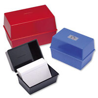 RECORD CARD INDEX BOX  6x4 BLUE + Pack 100 Record Cards