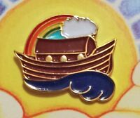 Ark with Rainbow Christian witness Pin