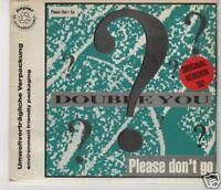 DOUBLE YOU - Please don't go (1989) +++ Rare MCD