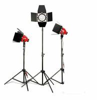 2400w Continuous Redhead Light Stand + Case kit 800w x3