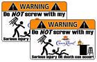 Crown Royal Warning Sticker Bar Pool Game Party Room