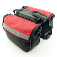Red Cycling Bike Bicycle Front Frame Pannier Tube Bag
