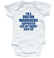BOLTON WANDERERS SUPPORTER football baby suit 3-6 month
