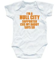 HULL FC SUPPORTER football baby suit 0-3 month