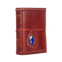 Fair Trade Handmade Medium Eco Stoned Leather Journal