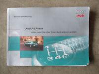 Betriebsanleitung Bedienungsanleitung AUDI A6 4B AVANT