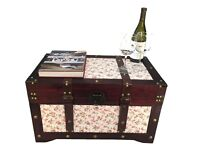 Savannah Medium Wood Storage Trunk Wooden Hope Chest