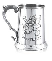 Scottish Lion Rampant Pewter Tankard - 1 pint