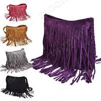 Women Soft PU Leather Tassels Hobo Clutch Purse Handbag Shoulder Totes Bag